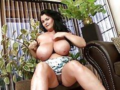Spalvingas motina didelis Natūralus Boobs
